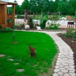 садовая дорожка из форм
