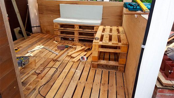 скамейки для беседки из поддонов