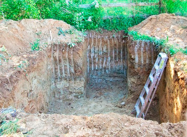 строим погреб из шлакоблока