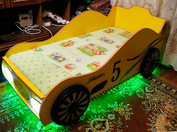 Фото детская кровать машина своими руками чертежи