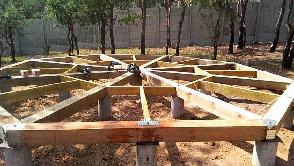 постройка беседки из дерева