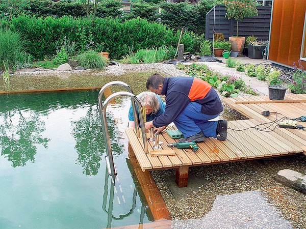 пруд бассейн на даче