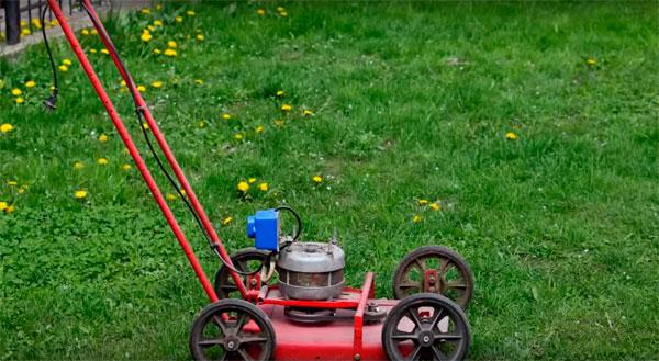 самодельная газонокосилка