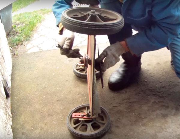 газонокосилка из двигателя стиральной машины