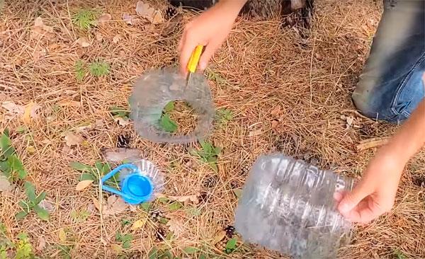 раколовка из 5 литровых бутылок