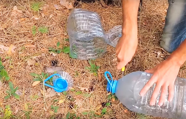 раколовка из пластиковых бутылок
