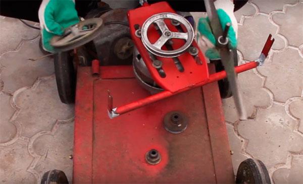 сделать газонокосилку из стиральной машины