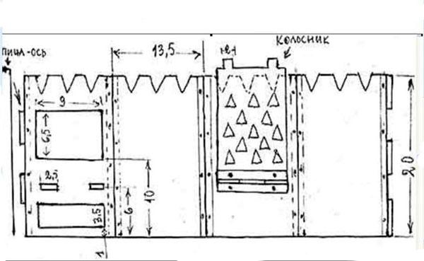 складная печь щепочница чертежи с размерами