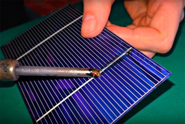 пайка солнечной батареи