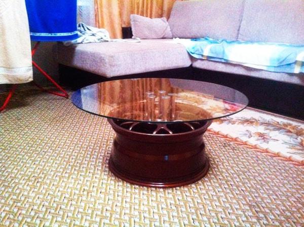 оригинальный стол из диска