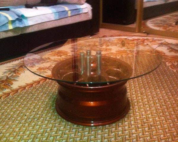 столик из диска