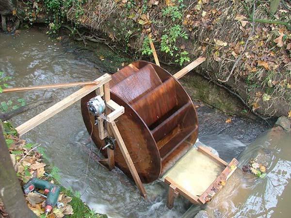 водяная мельница для выработки электроэнергии