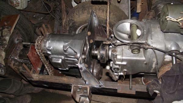 установка двигателя на трактор