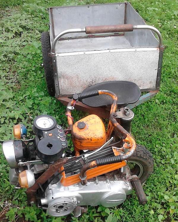 тележка с двигателем от мопеда