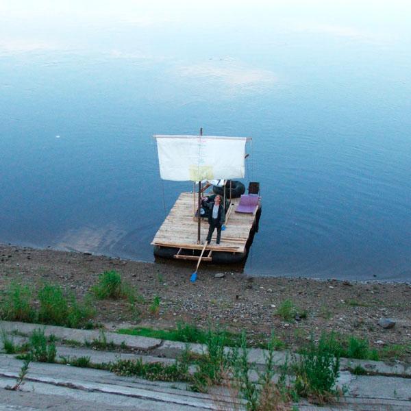сплавляемся по реке на плоту