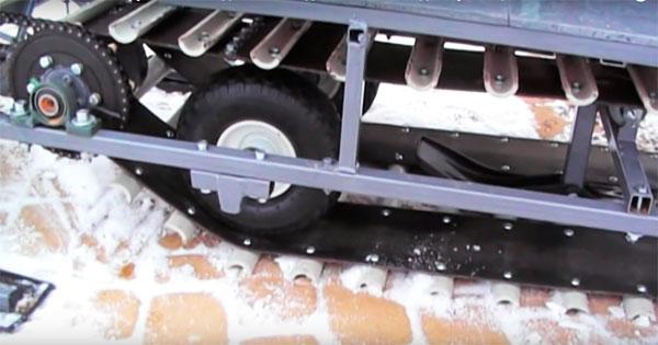 Как сделать гусеницу на самодельный снегоход 594
