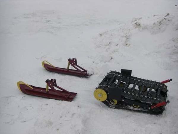 разборный снегоход
