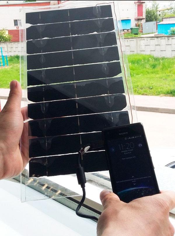 самодельная зарядка на солнечных батареях
