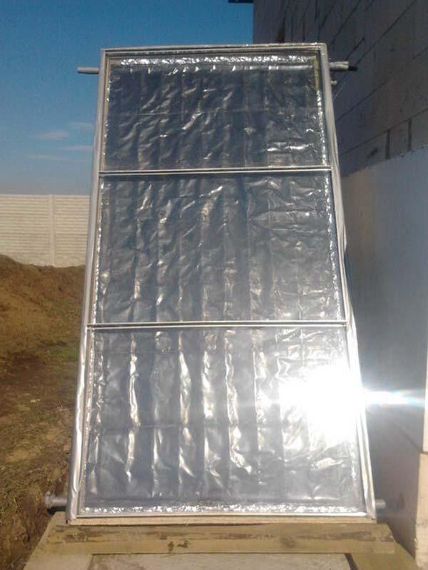 фото самодельного солнечного коллектора