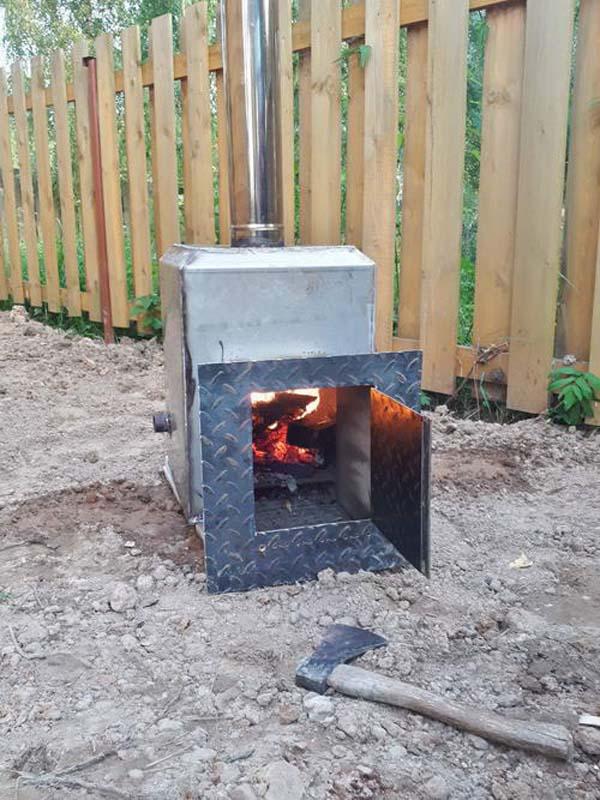 печка для уличной купели