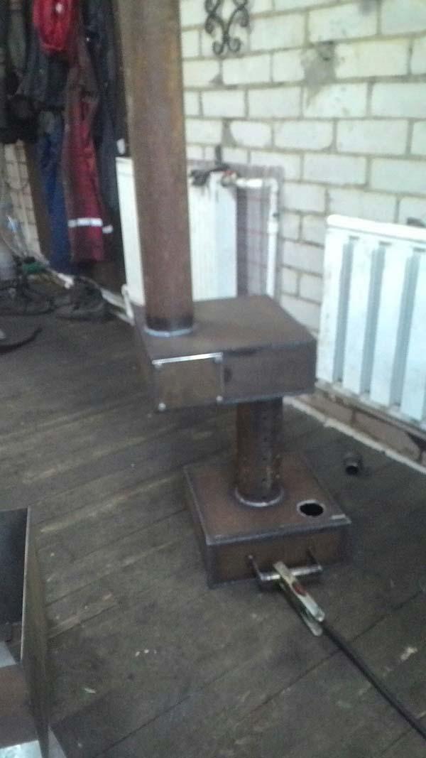 самодельная печь работающая на машинном масле