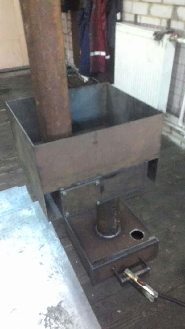 печь для гаража на отработанном масле