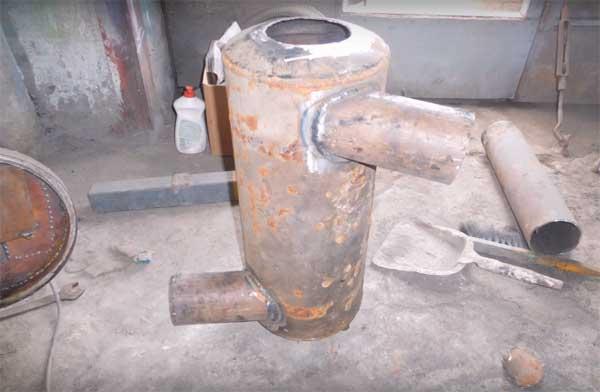Теплообменник на дымоход из газового баллона насадка на трубу дымохода от дождя из оцинкованной стали