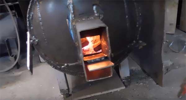 самодельная печка баржуйка