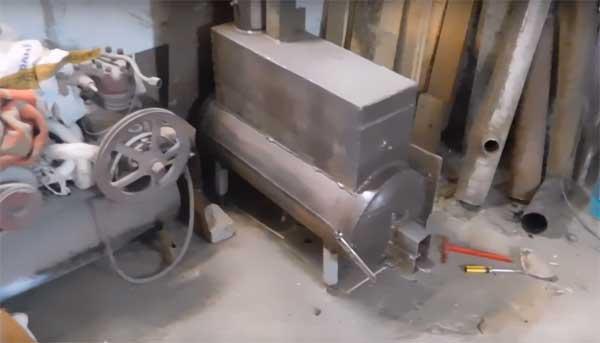 эффективная печка буржуйка из баллона