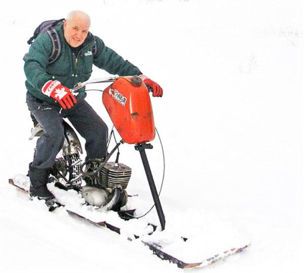 Как из мотоцикла минск сделать снегоход 5