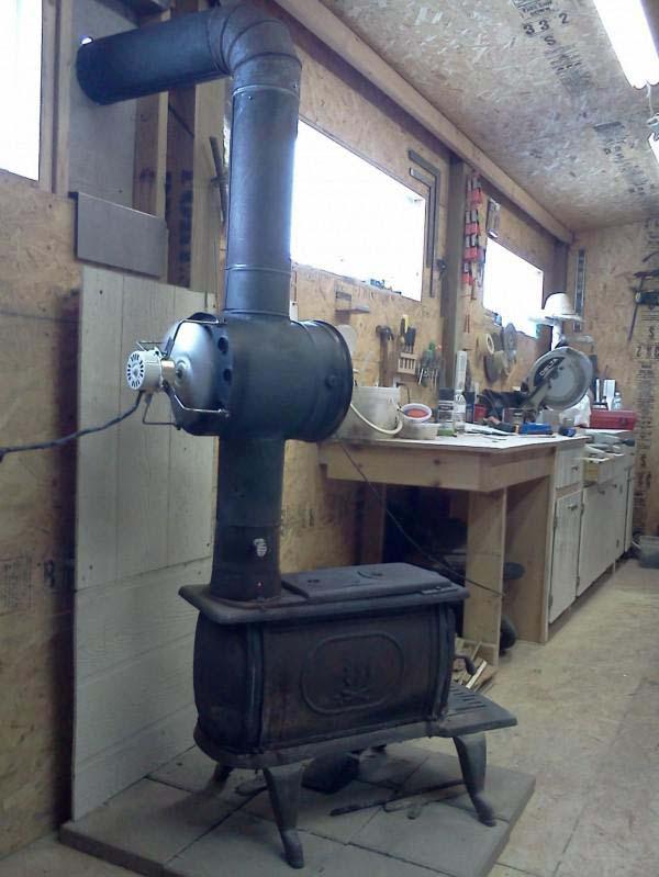 Печь с воздушным теплообменником своими руками