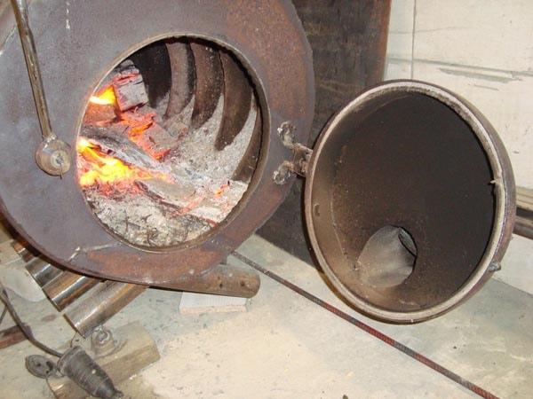 Как сделать печь из булерьяна 830
