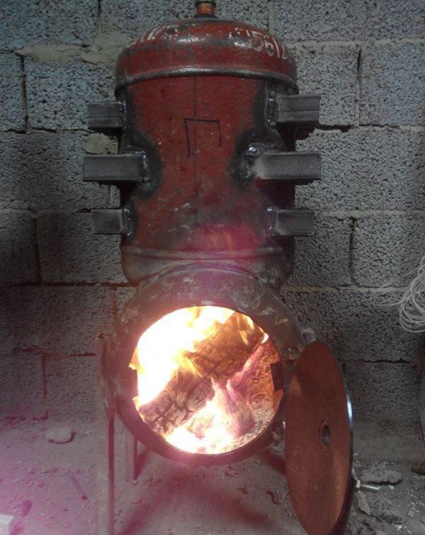 самодельная печь в гараж