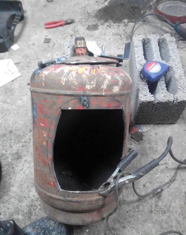 печка на дровах самоделка