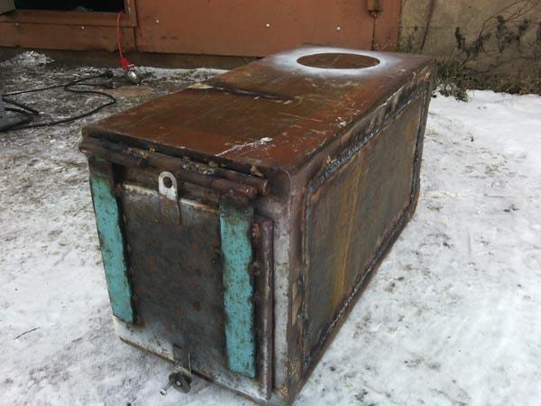 печка из сейфа