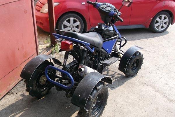 самодельный квадроцикл из скутера