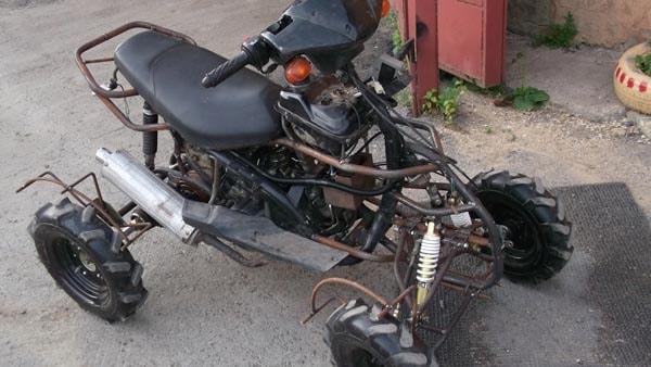 как сделать квадроцикл из скутера
