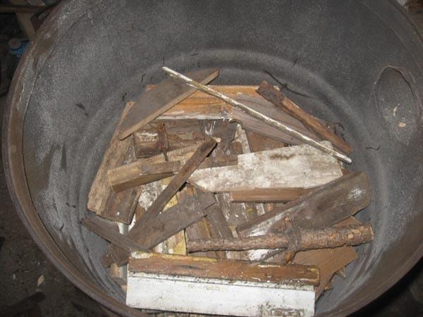 топим дровами