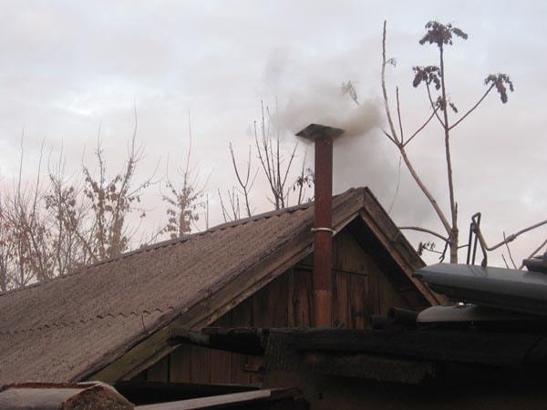дымоход на гараже фото