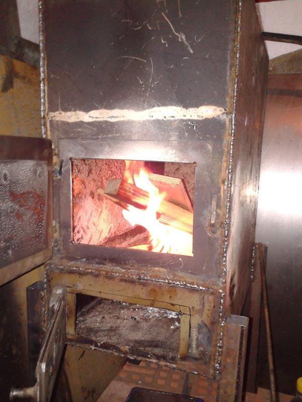 Печка котел для гаража своими руками