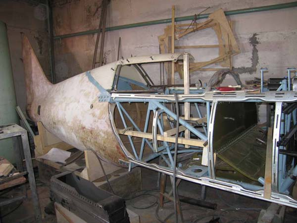 восстановление самолёта ВОВ