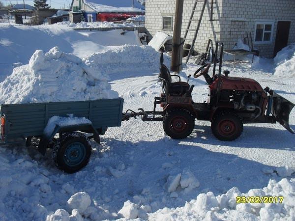 трактор из двигателя урал