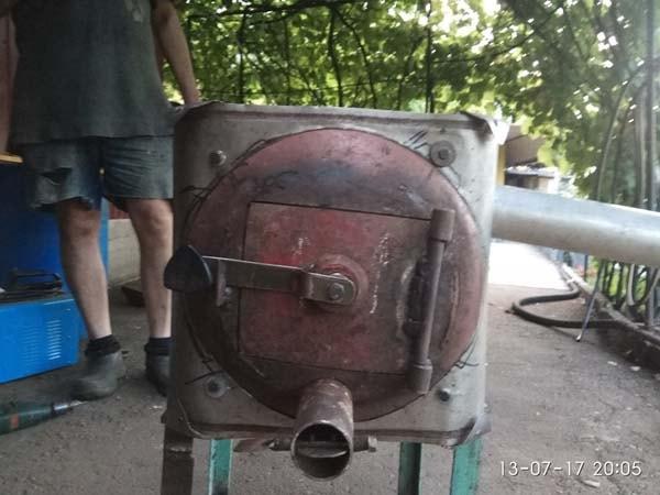 самодельная печка буржуйка