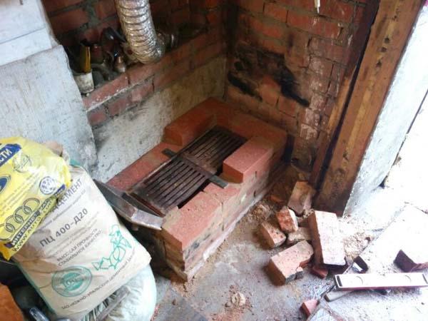кирпичная печь в гараж