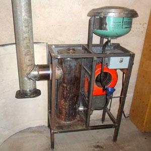 печь на отработанном масле