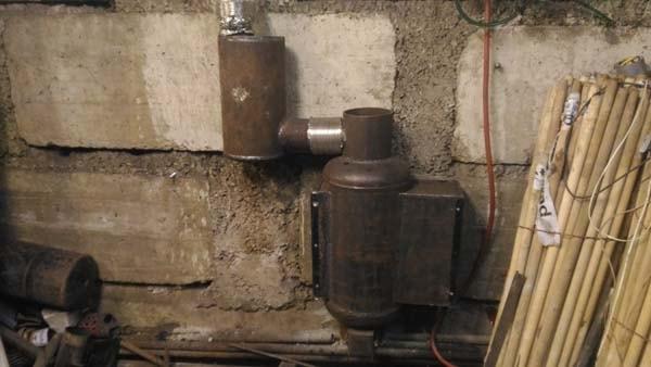 печь на отработанном масле с теплообменником