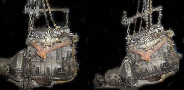 траверса балансир для подъема двигателя