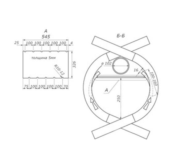 булерьян печь чертеж