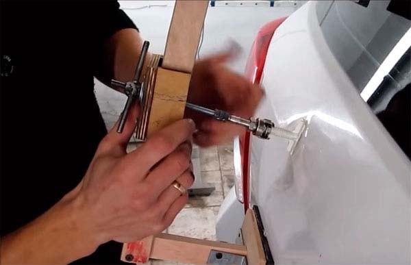 Приспособление для удаление вмятин без покраски своими руками 48