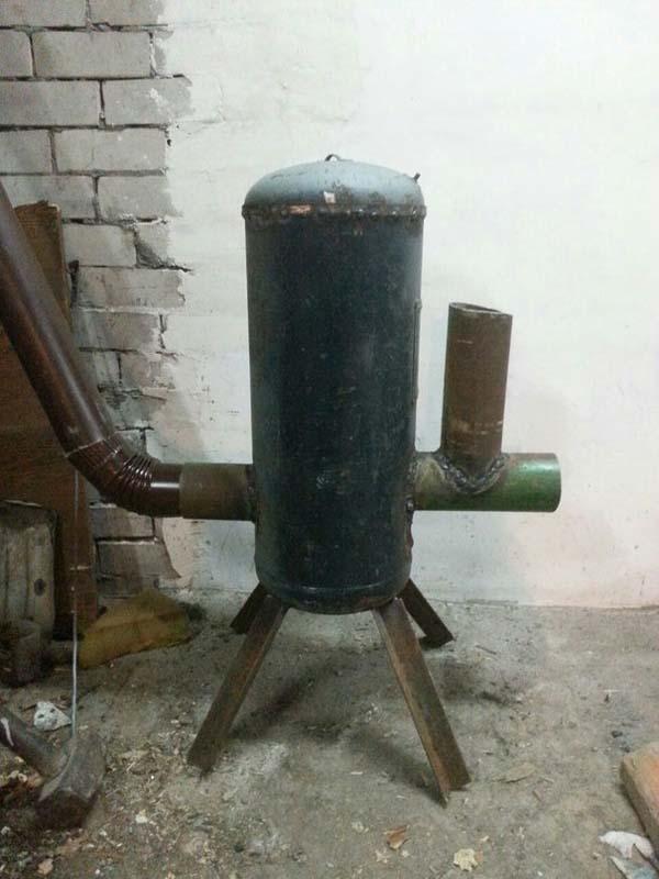 ракетная печь для отопления мастерской